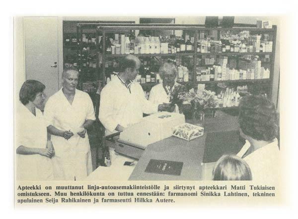Petäjäveden apteekki, juttu Petäjävesi-lehdessä 7.8.1980