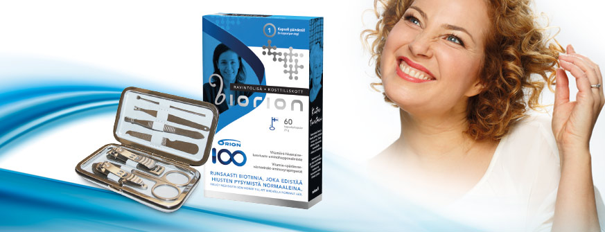 Biorion ravintolisä hiuksille nyt – 15 %. Kaupan päälle kynsisetti (arvo 14€)