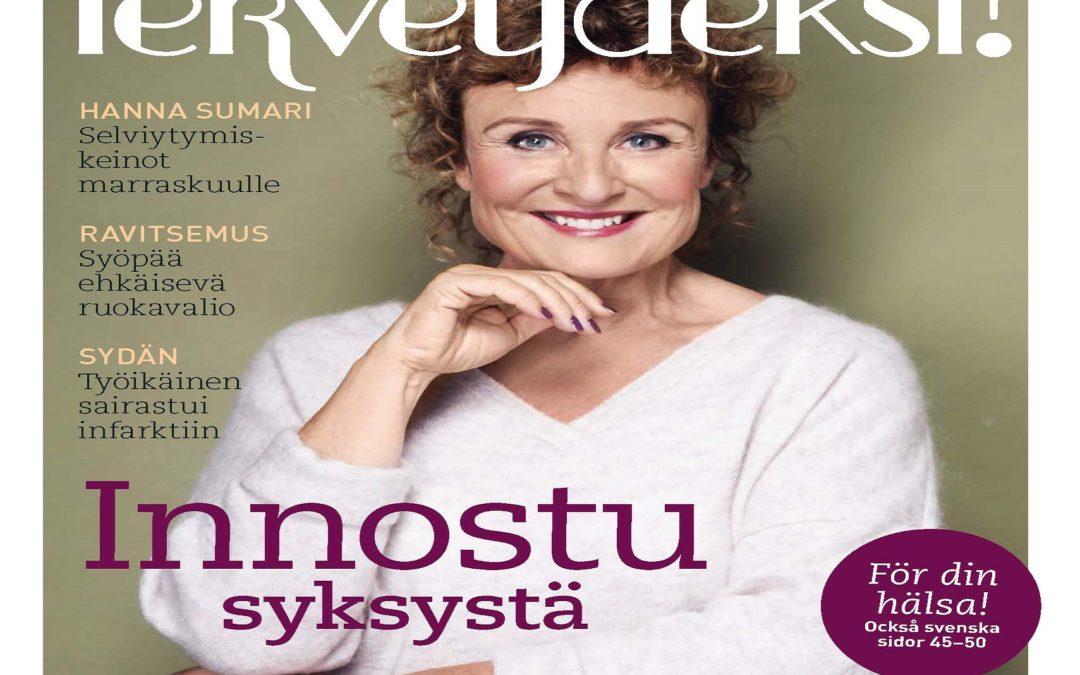 Uusi Terveydeksi-lehti ilmestyi 25.9. Hae omasi apteekista!