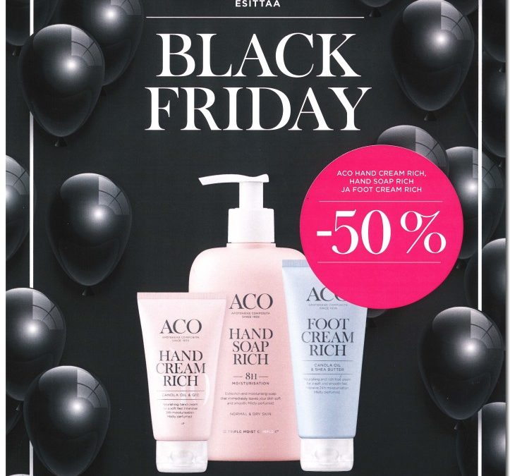 ACO esittää – BLACK FRIDAY – 50 %
